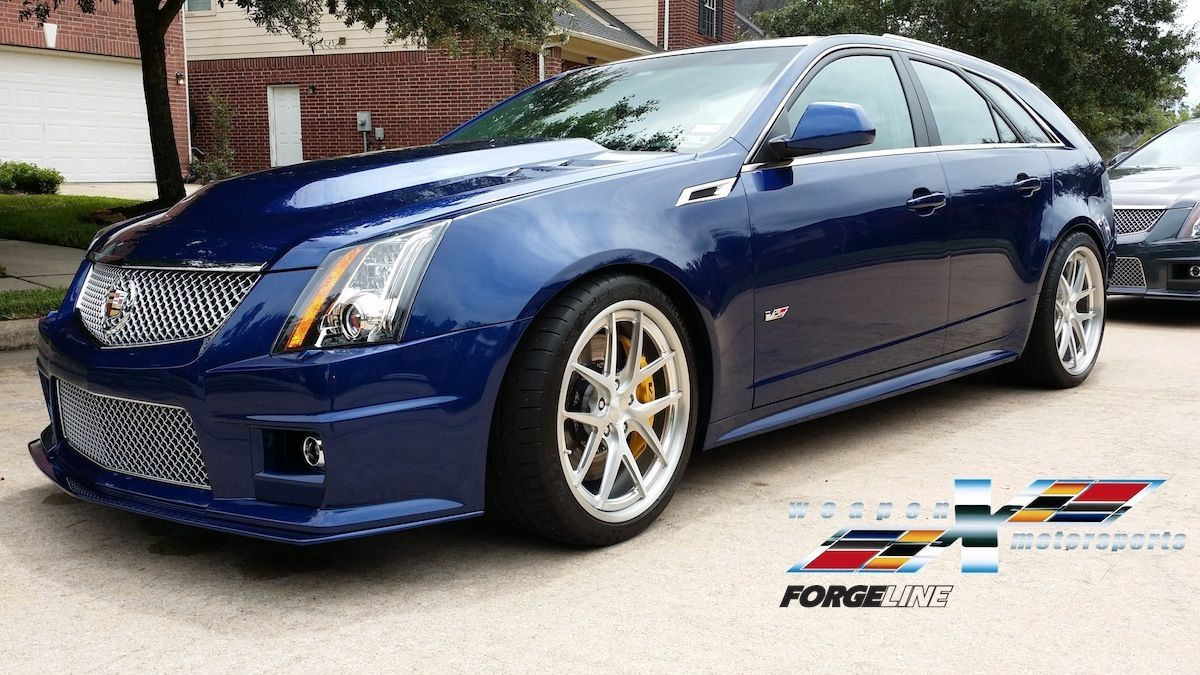 2014 Cadillac CTS-V Wagon | Eric Fountaine's CTS-V Weapon X Wagon on Forgeline VX3C Wheels