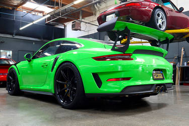 2018 Porsche 911 | BBi Autosport Lizard Green Porsche 991.2 GT3 RS on Forgeline One Piece Forged Monoblock GE1 Wheels