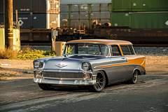 "John Dwyer's ""Nomax"" Turbo Deisel 1956 Chevy Nomad on Forgeline Dropkick Wheels"