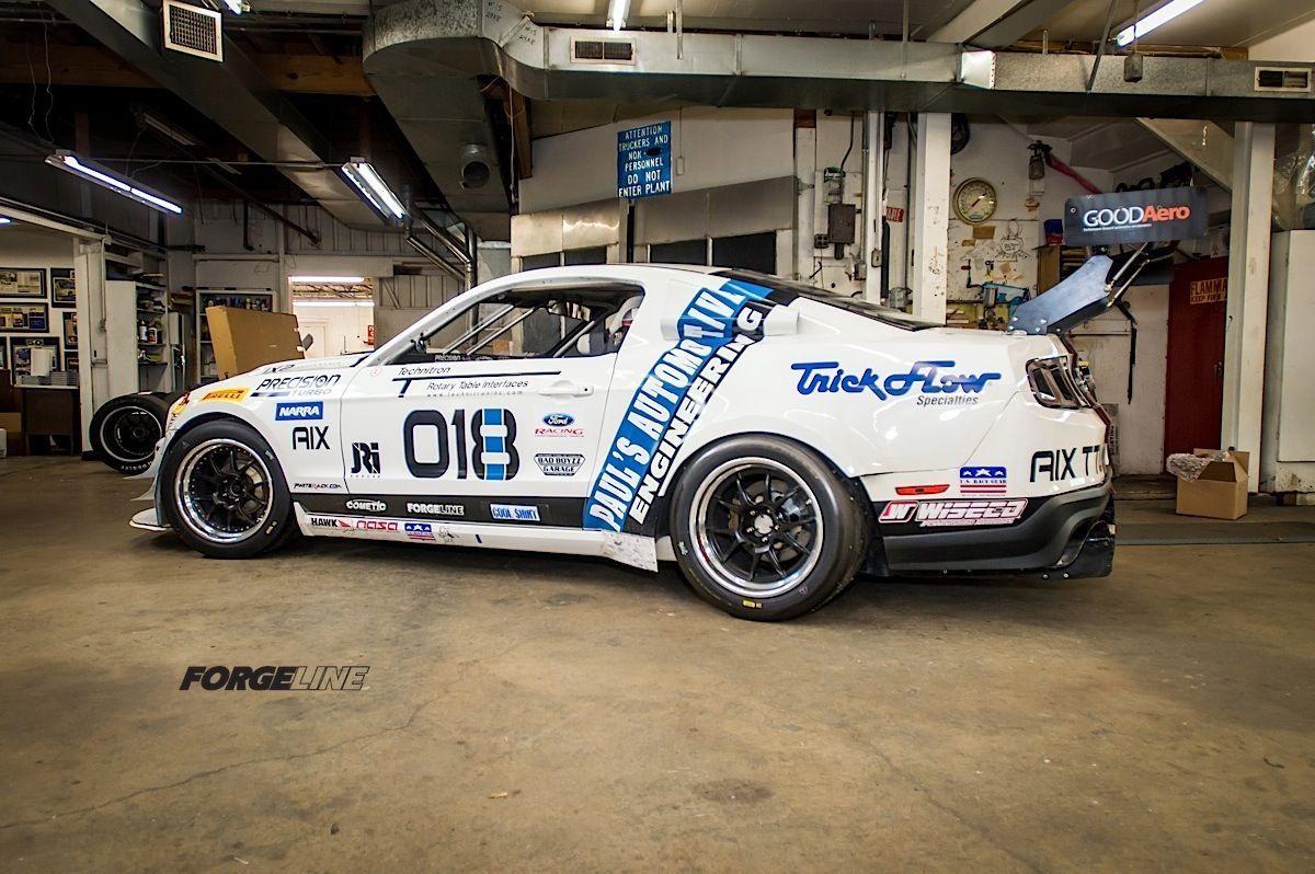 2014 Ford Mustang | Brian Faessler's Turbocharged Boss 302 Mustang GTU-class Racecar on Forgeline GA3R Wheels