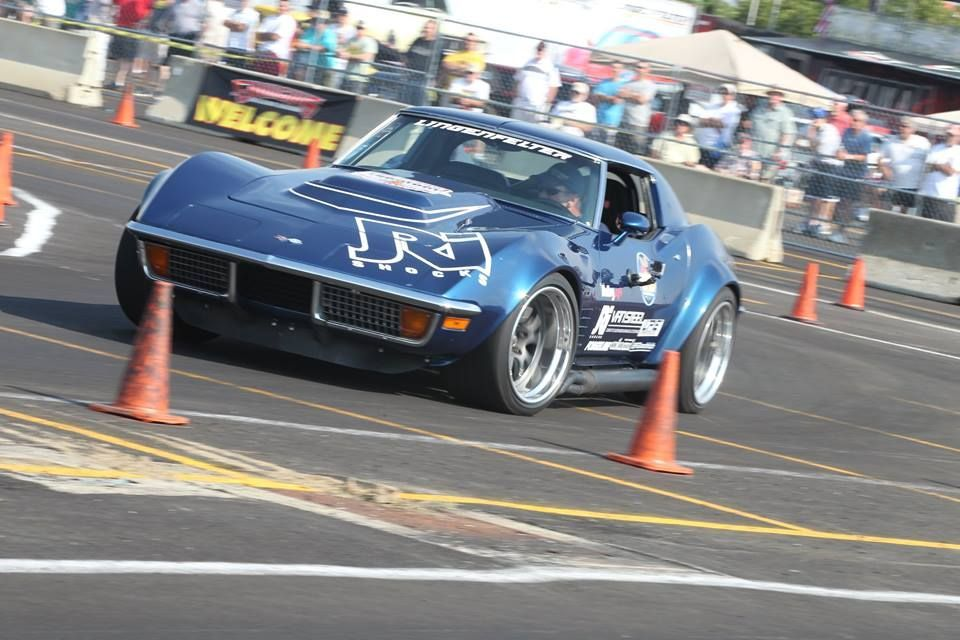 1972 Chevrolet Corvette   Danny Popp Wins Goodguys Sponsor Shootout Autocross in Columbus on Forgeline GA3R Wheels