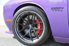 Patrick's Plum Crazy Purple Petty Dodge Challenger Hellcat on Forgeline VX3C-SL Wheels