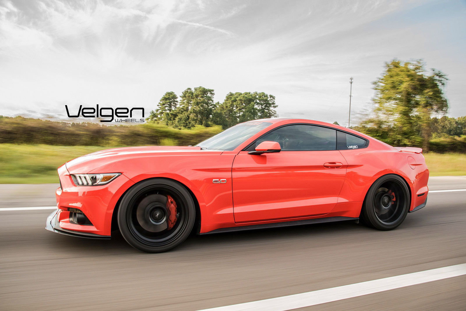 2015 Competition Orange Mustang Gt Velgen Wheels Rolling