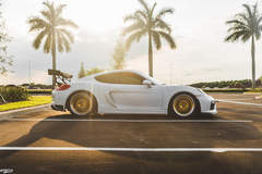 Rennsport One's 981 Porsche Cayman S on Forgeline Heritage Series LS3 Wheels
