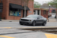 Sharad Raldris' S197 Mustang GT on Forgeline One Piece Forged Monoblock GA1R Open Lug Wheels