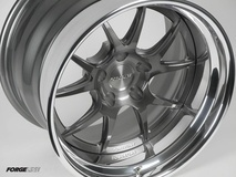 Forgeline GA3 Wheel Finished With Transparent Smoke Center and Polished Outer