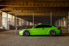 Green BMW 6 Series - Driver Side Profile