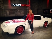 Courtney Hansen with the 1000+HP Schwartz Performance Trans Am