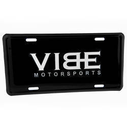 BLACK ALUMINUM INSERT FOR LICENSE PLATE