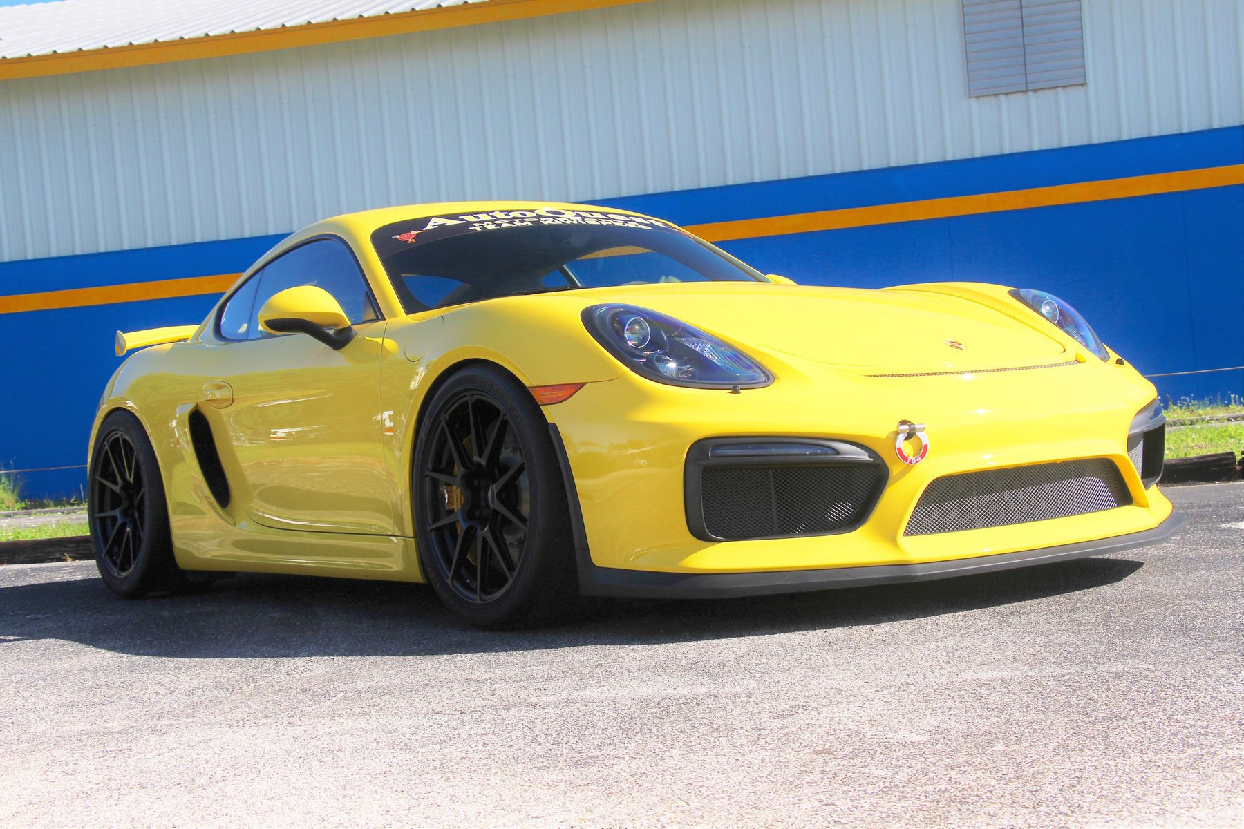 2016 Porsche Cayman | Gavin Riches' AutoQuest Porsche Cayman GT4 on Forgeline One Piece Forged Monoblock GA1R Open Lug Wheels