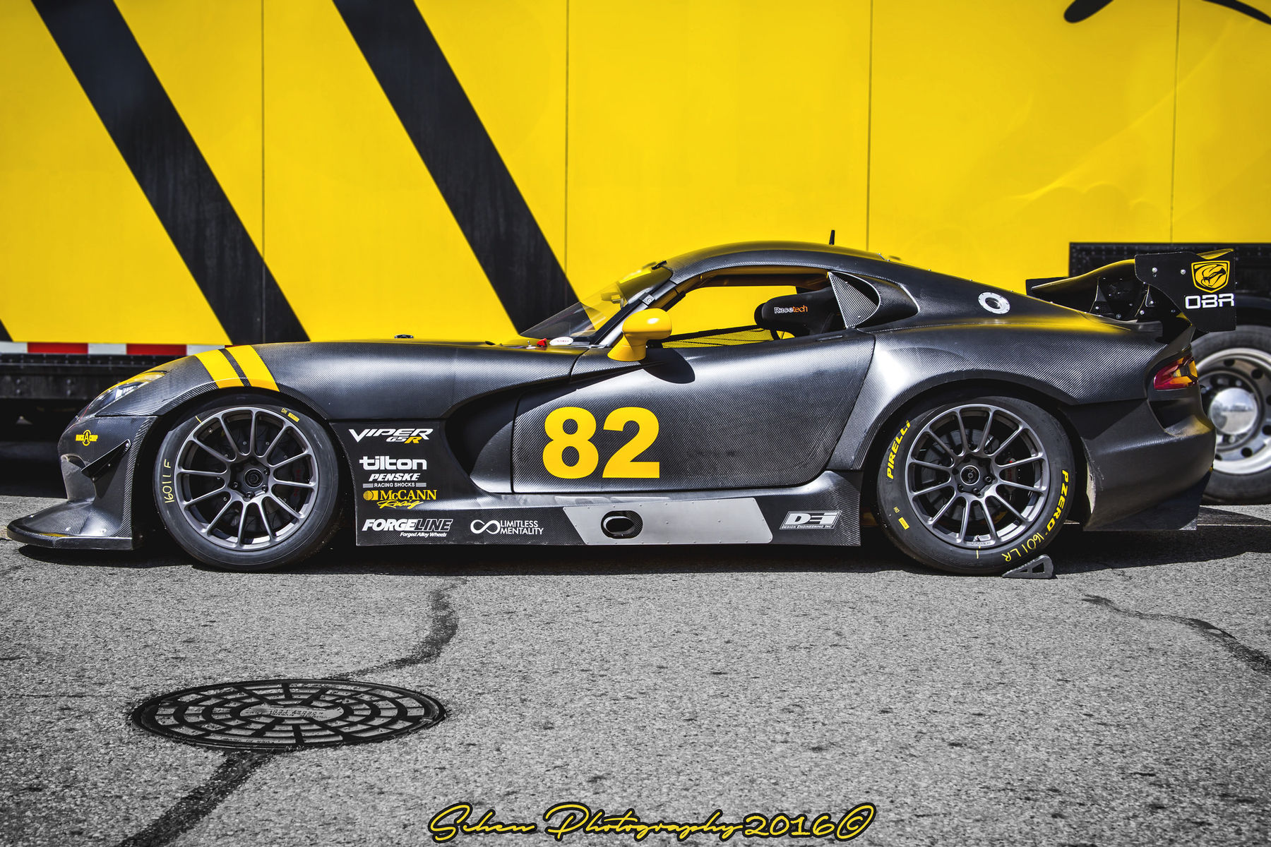 2014 Dodge Viper | McCann Racing's Carbon Fiber Dodge Viper G5R on Forgeline One Piece Forged Monoblock GTD1-Viper Wheels