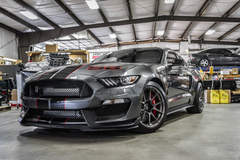 Tony Janko's 1056RWHP Mustang GT350 on Forgeline One Piece Forged Monoblock GA1R Open Lug Wheels