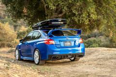 """Subaru WRX STI on 18"""" Vorsteiner V-FF 108 Wheels - Rear Rally Shot"""