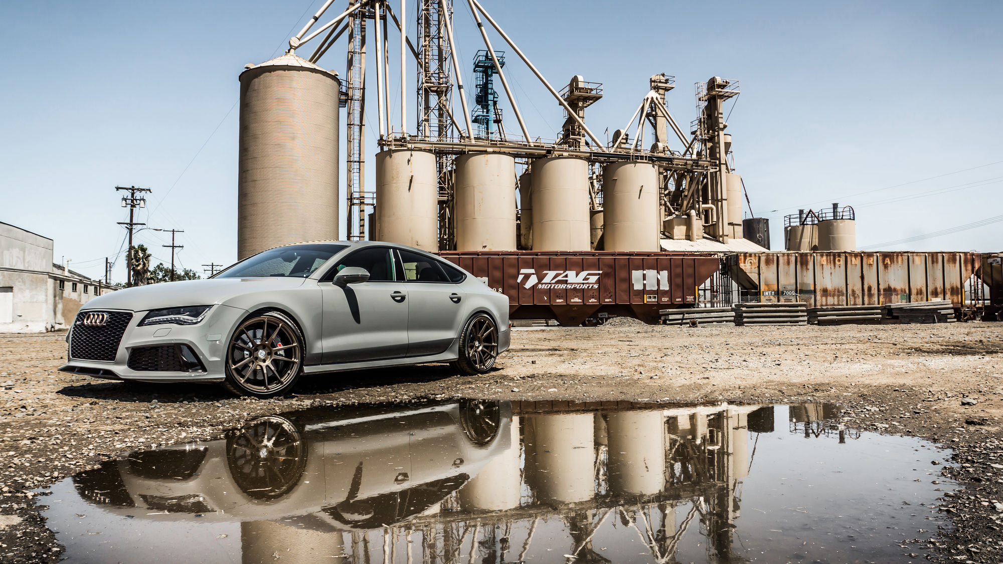 2014 Audi RS7 | TAG Motorsports Nardo Grey RS7 on Bronze HRE