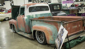 """""""Effin Confused"""" 1956 Ford F100 Pickup Truck on Forgeline RB3C Wheels"""