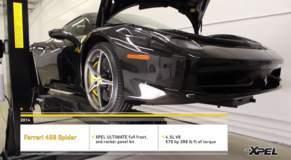 2014 Ferrari 458 Spider Clear Bra Install by XPEL Austin