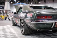 """Mark Stielow's """"Gunner"""" '69 Camaro on Forgeline One Piece Forged Monoblock CF1 Open Lug Wheels"""