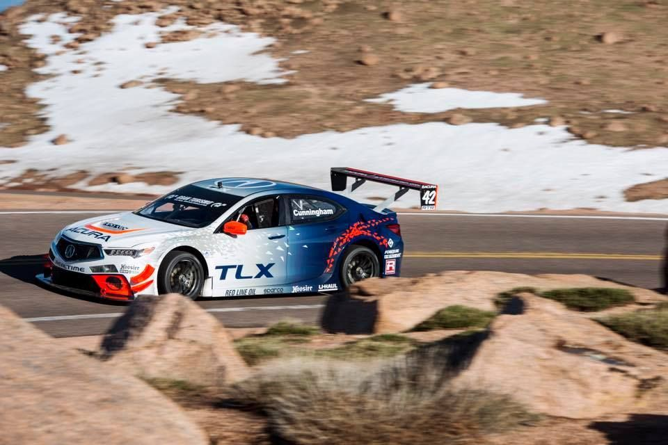 2017 Acura TLX | RealTime Racing Sets Course Record at Pikes Peak International Hill Climb on Forgeline One Piece Forged Monoblock GTD1 Wheels