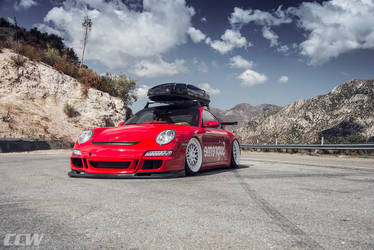 2013 Porsche 911 | Supreme Red Bagged Porsche 997 911 Carrera - CCW Classic 3 Piece Wheels
