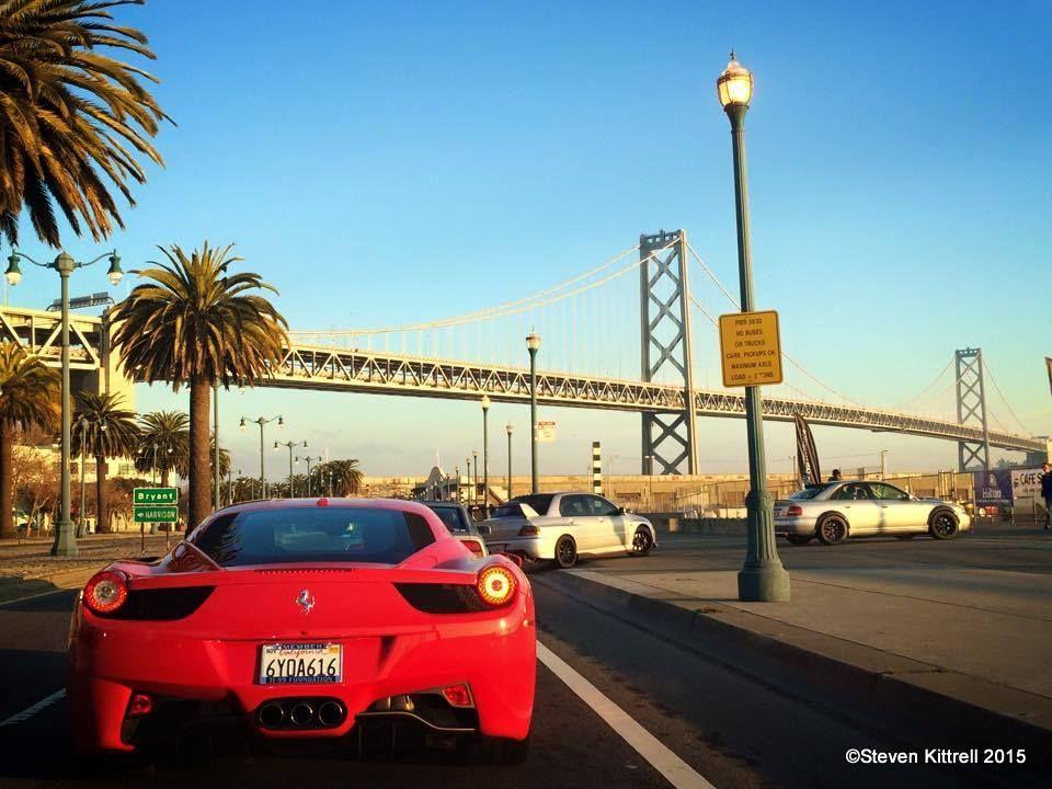 Ferrari    458 getting into SF