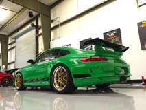 Signal Green Porsche 997.1 GT3RS on Forgeline GA3R Wheels