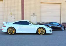 Porsche GT3 on 20-inch Forgeline One Piece Forged Monoblock GT1 Wheels