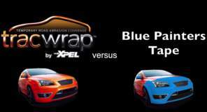 Tracwrap versus Blue Painters Tape