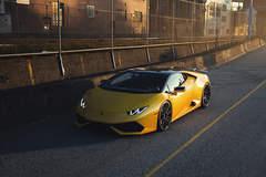 Yellow Lamborghini Huracan LP610-4 - ADV.1 ADV10 M.V2 CS Series Gloss Black Wheels