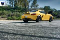 Yellow Porsche Boxster - Rear
