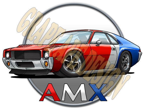 1968 Jeep  | AMC AMX art design