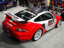 BBi Autosport's 997.1 Porsche 911 Turbo on Forgeline 1pc Forged Monoblock GA1R Open Lug Wheels