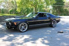 1970 Ford Mustang Mach 1 on Forgeline SC3C Concave Wheels