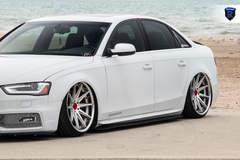 White Audi A4 - Lowered