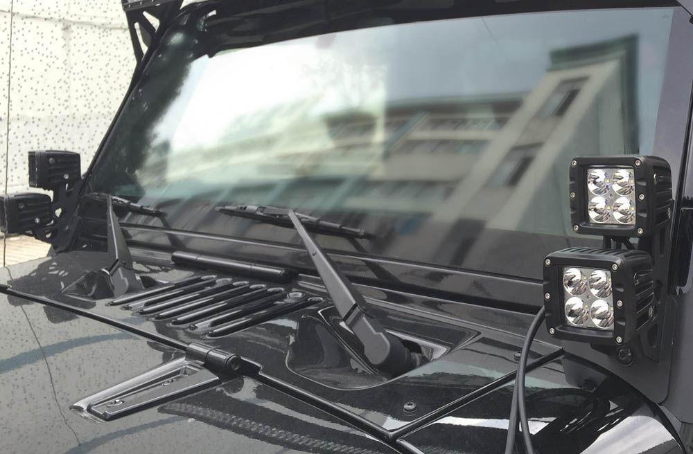 2016 Jeep Wrangler | Jeep Wrangler Pillar Mount Brackets for Dual LED Lights