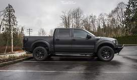 STEALTH Matte Wrapped Ford Raptor