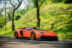 Aracio Argos Orange Lamborghini Aventador LP700-4 - ADV.1 ADV5.3 Track Spec CS Series Wheels