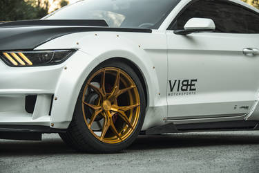 "2015 Ford Mustang | Widebody Mustang EcoBoost on 20"" Rohana Gold RFX5 Wheels - Team Vibe"