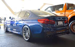 Dinan Engineering's BMW G30 M550i S1 on Forgeline One Piece Forged Monoblock AR1 Wheels