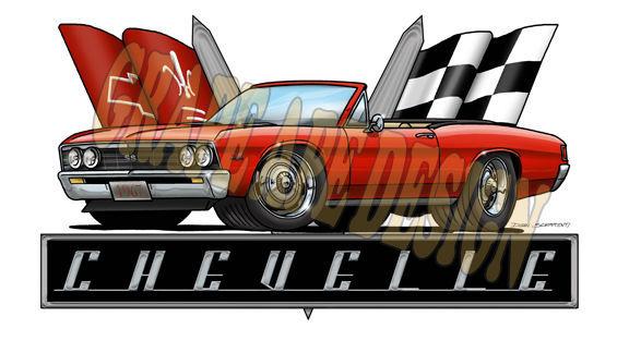 1967 Chevrolet Chevelle | Chevy Chevelle art design