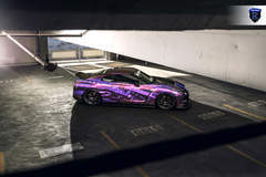 Wrapped Nissan GTR - Top Side View