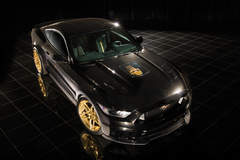 2015 Black Gold Mustang Front