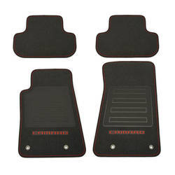 Camaro Logo Floor Mats with Red Outline