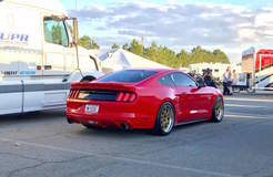 Sharad's Vortech-Supercharged S550 Mustang GT on Forgeline GA3R Open Lug Wheels