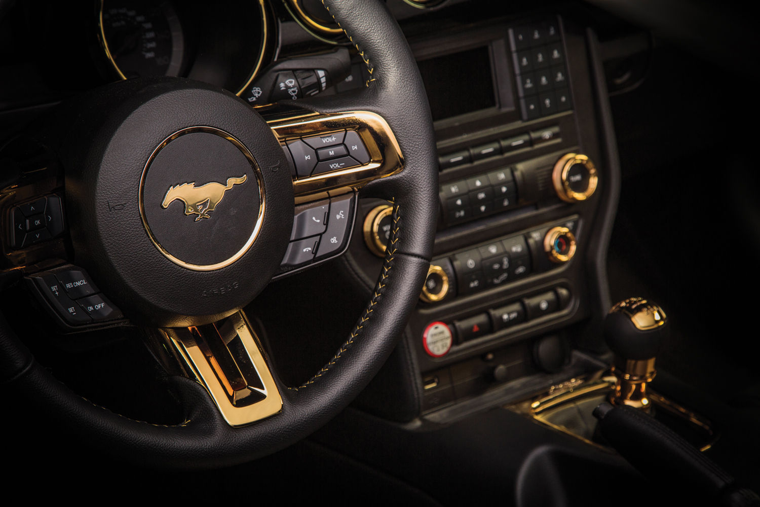 2015 Ford Mustang | 2015 Black Gold Mustang Interior