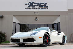 White Ferrari 488 GTB protected with XPEL ULTIMATE