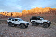 Mark and Dave's Jeeps at Moab