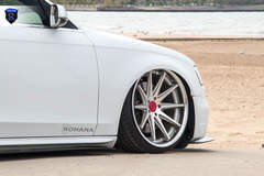 White Audi A4 - Front Right Wheel
