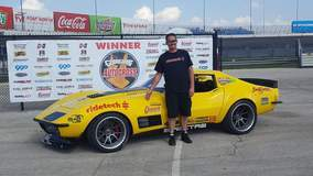 Smitty Wins Autox Pro Class at Goodguys Lone Star Nationals in the 48 Hour Corvette on Forgeline GA3C Wheels