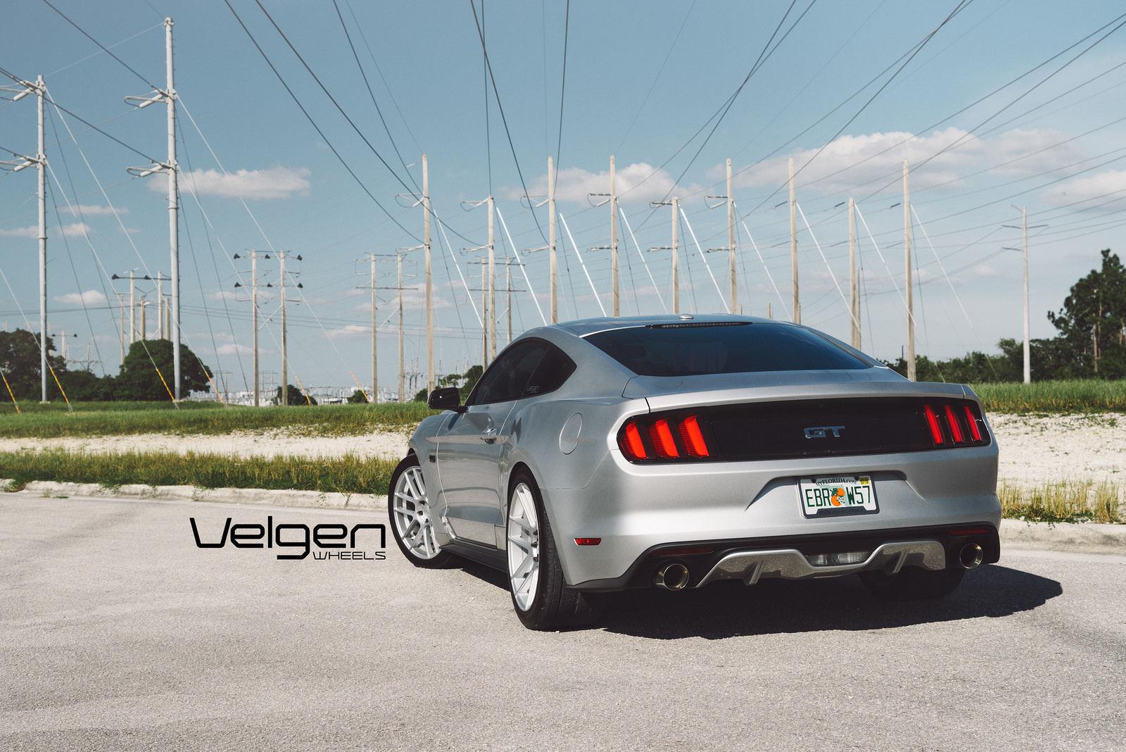 2015 Ford Mustang   2015 Ingot Silver Mustang GT on Velgen Wheels VMB6