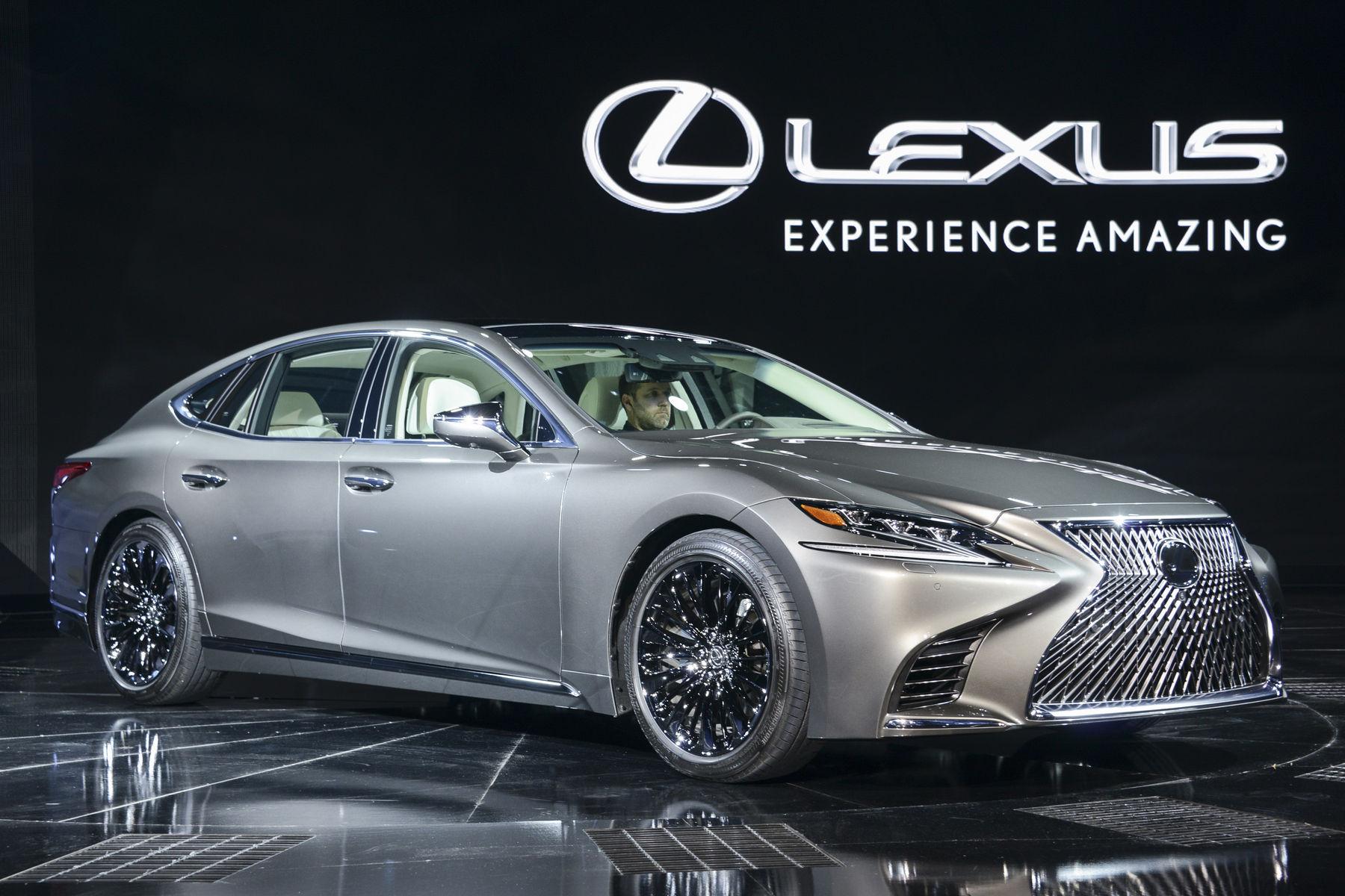All New 2018 Lexus LS500 Passenger Side View